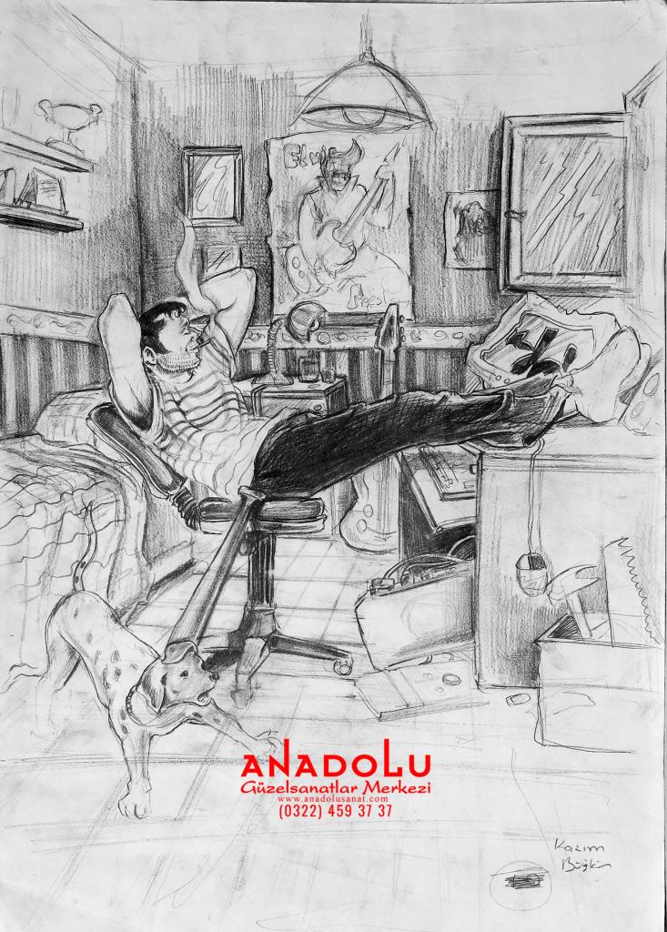 Anadolu Sanat İmgesel Çizimler Ankara