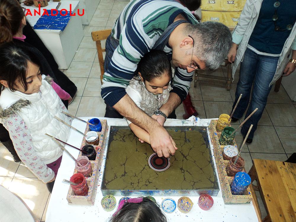 Çocuklar İçin Ebru Atölyesi Ankara