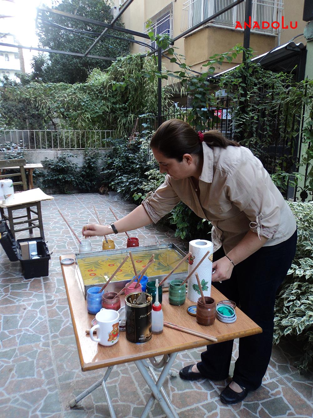 Açık Havada Ebru Çalışması Ankara