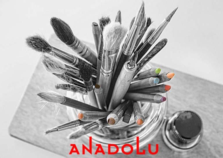 Bardak İçinde Yağlı Boya Malzemeleri Ankara