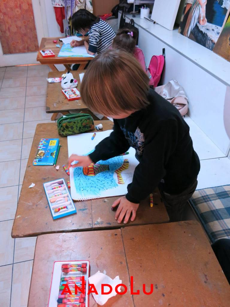 Çocuklara Yönelik Pastel Mozaik Yapımı Ankara