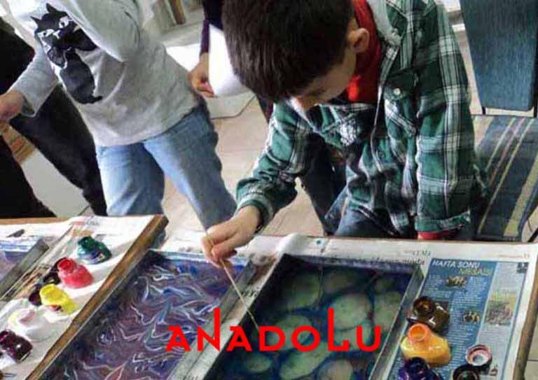 Çocuklara Yönelik Ebru Kursları Ankara
