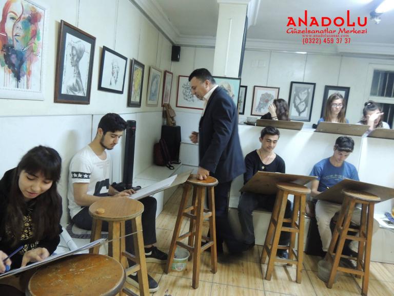 Güzel Sanatlara Hazırlık Desen Dersleri Ankara