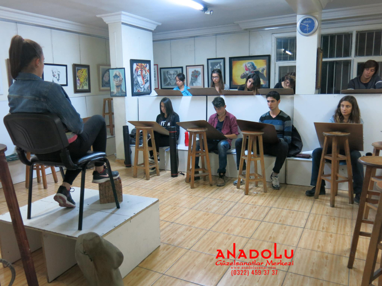 Anadolu Güzel Sanatlarda Modelden Desen Çalışmaları Ankara