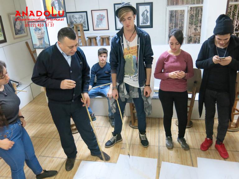 Ankarada Anadolu Güzel Sanatlarda Modelden Desen Çizim Eğitimleri