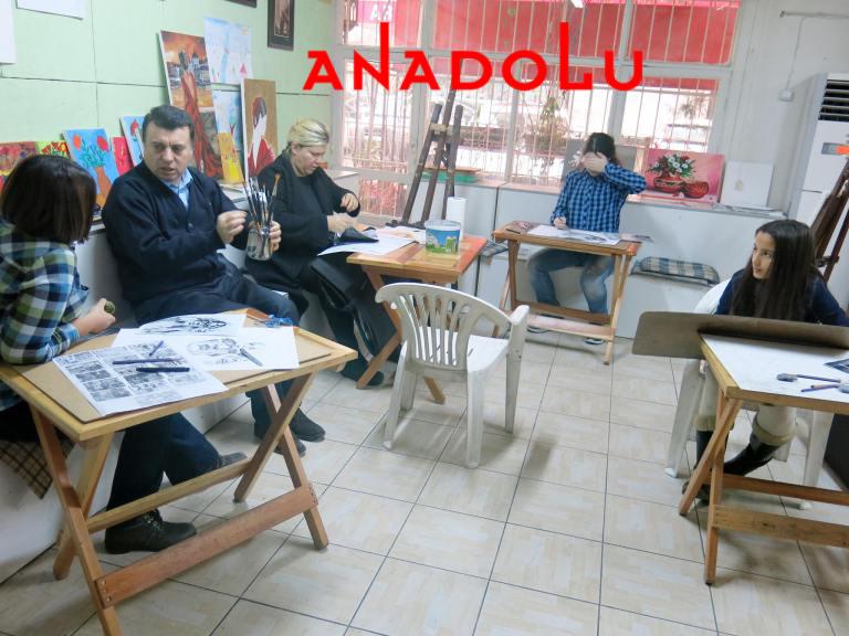 Teknik Dersler Karakalem Çalışmaları Ankara
