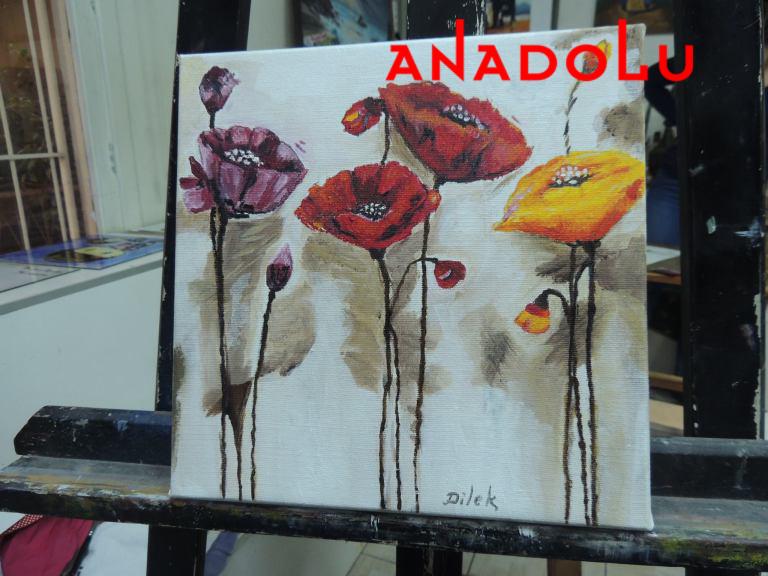 Yağlıboya Çiçek Çizimleri Ankara