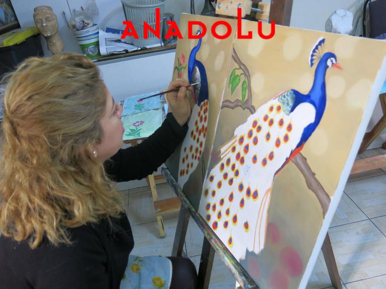 Yağlıboya Tavuskuşu Çizimleri Ankara