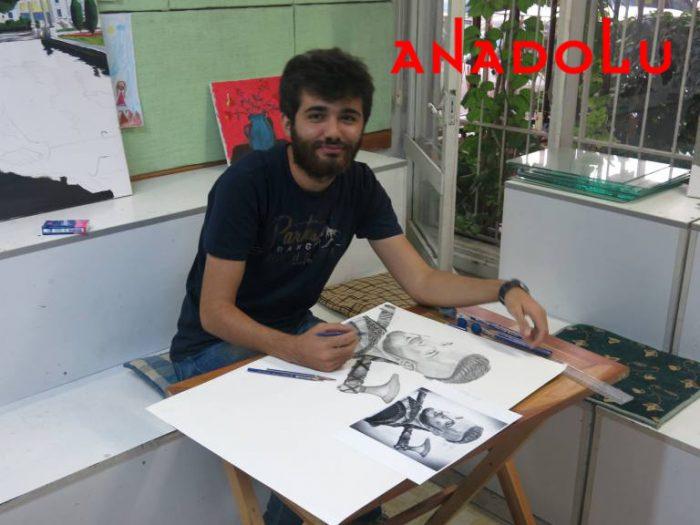 Karakalem Çalışan Hobi Grubu Çizimleri Ankara
