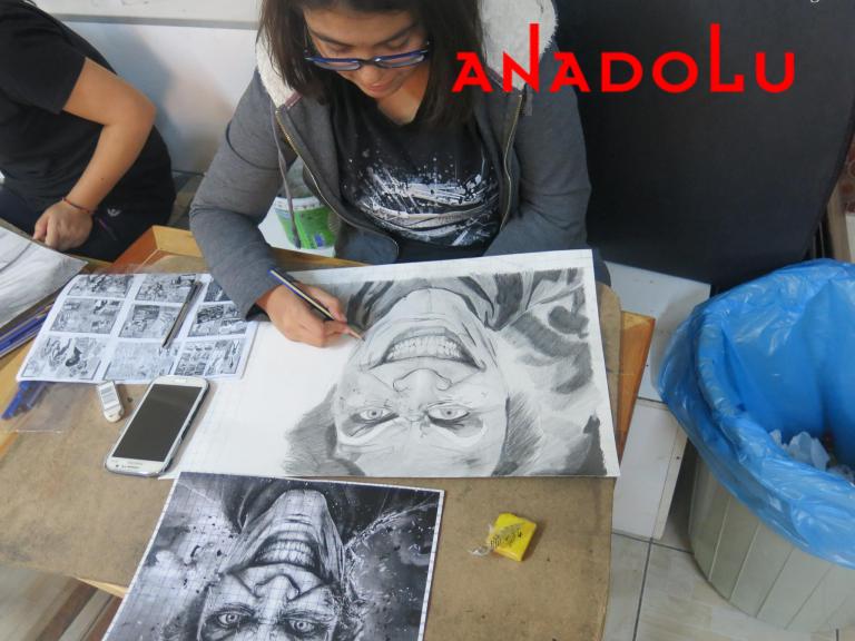Karakalem Potre Çalışması Ankara