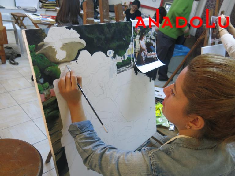 Yağlı boya Manzara Çalışması Ankara