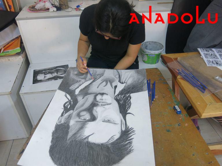 Karakalem Erkek Potre Çalışmaları Ankara