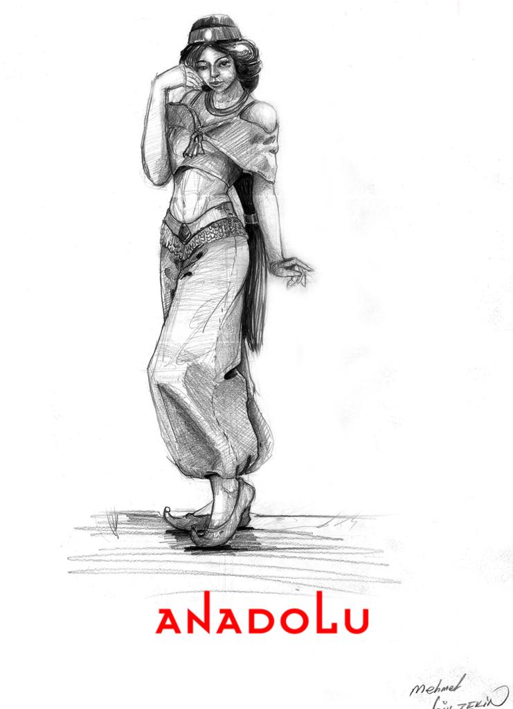 İmgesel Karakalem Kadın Çizimi Ankara