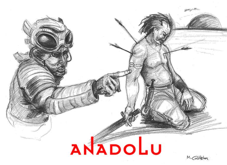 Karakalem İmgesel Yaralanan Adam Çizimi Ankara