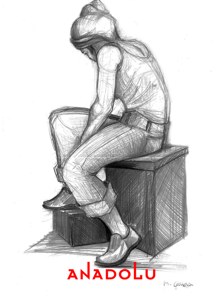 Karakalem Kadın Model Çizimi Ankara