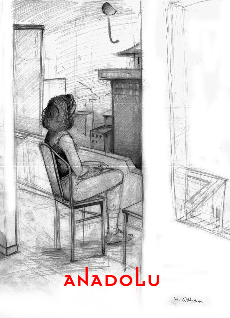 İmgesel Balkonda Oturan Kadın Çalışması Ankara