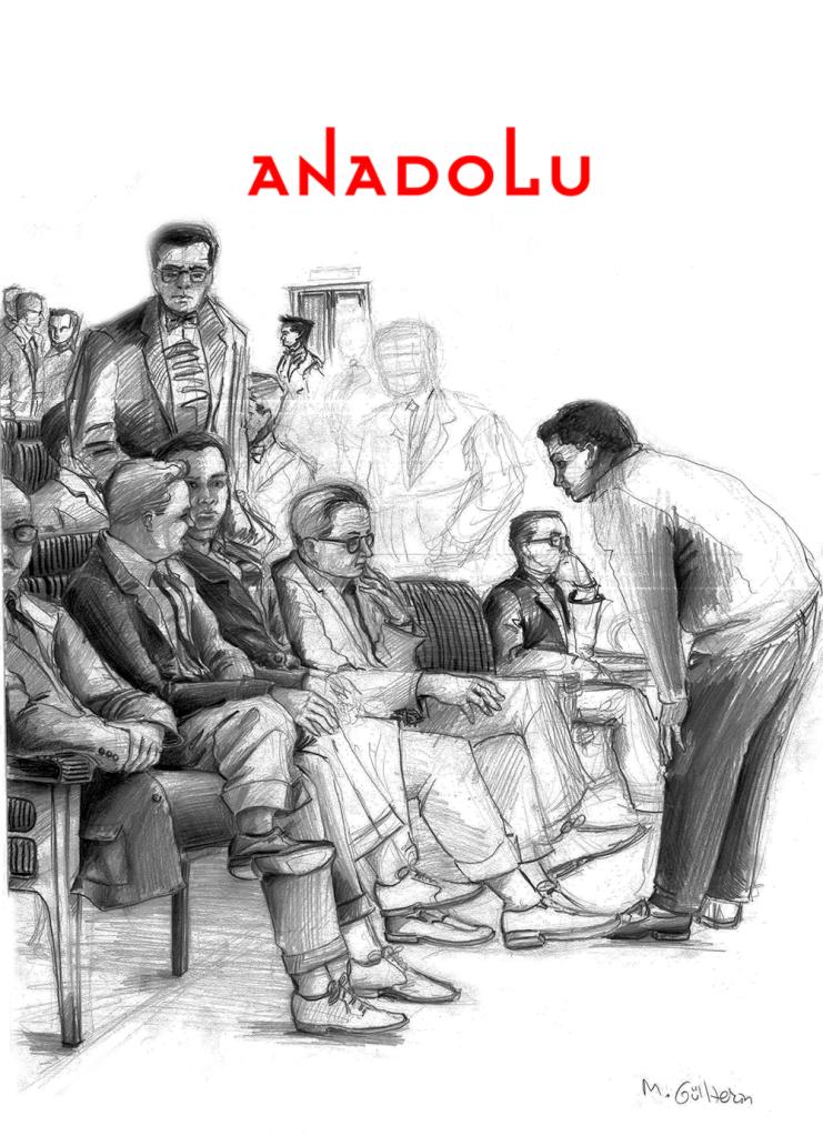 Ankarada Karakalem Toplantı Çizimi