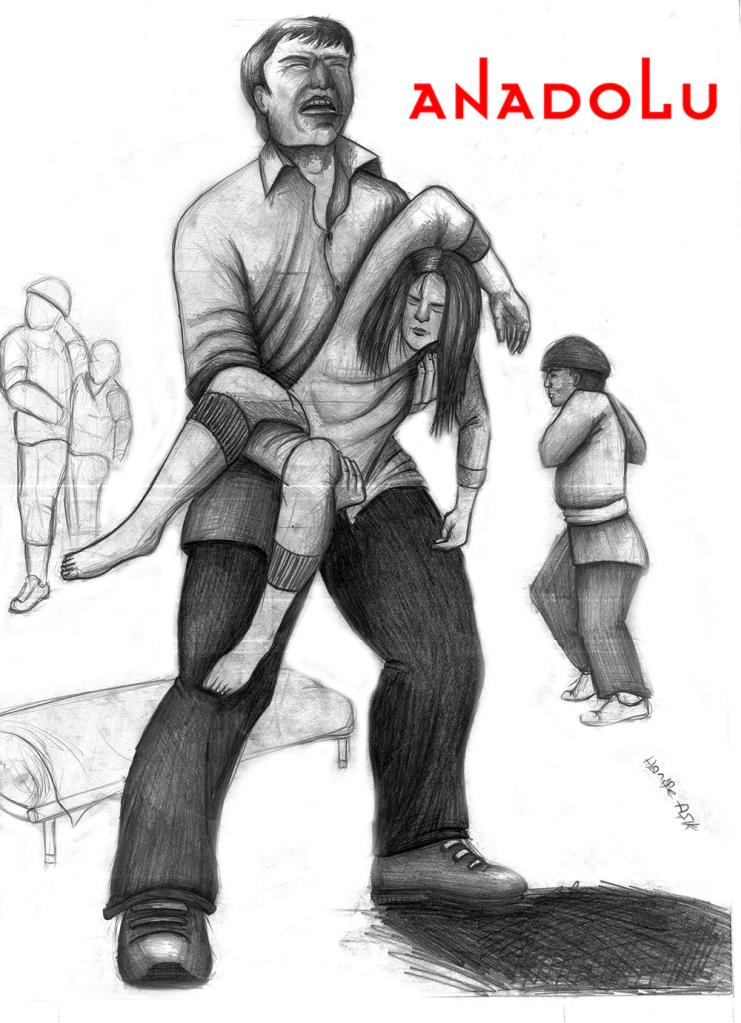 Ankarada karakalem babası ve kızı