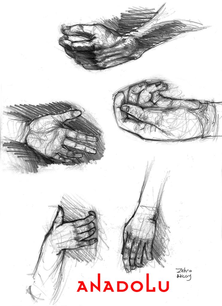 Kara Kalem El çizimleri Anadolu Sanat