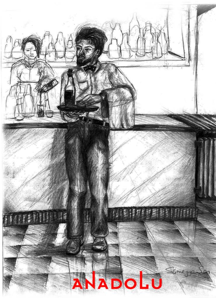 Karakalem Garson Çizim Örneği Ankara