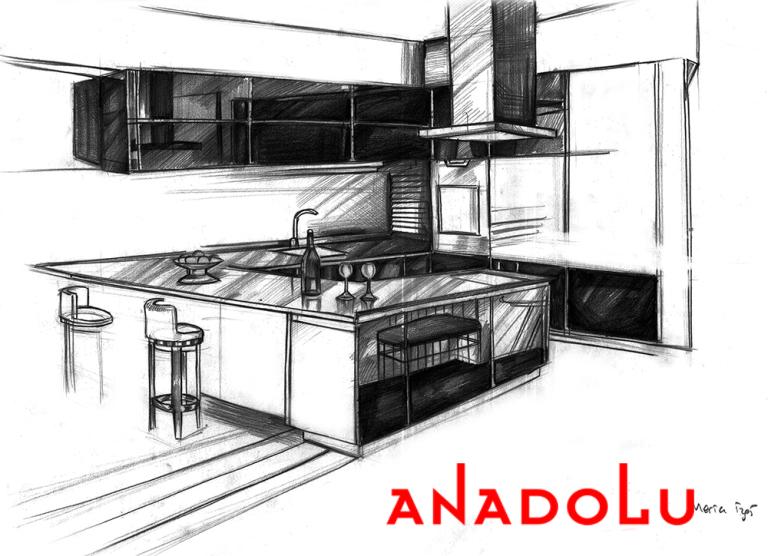 karakalem Mutfak Çizim Örnekleri Ankara