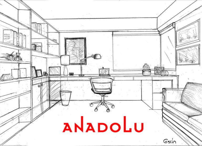 Çalışma Odası Çizim Görselleri Ankara