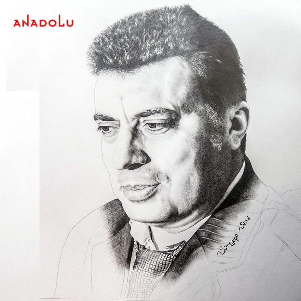 yaşarkarakuzu'nun kara kalem portresi Ankara