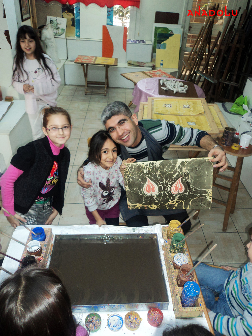 Ankarada Çocuklar İçin Ebru Kursları Başladı