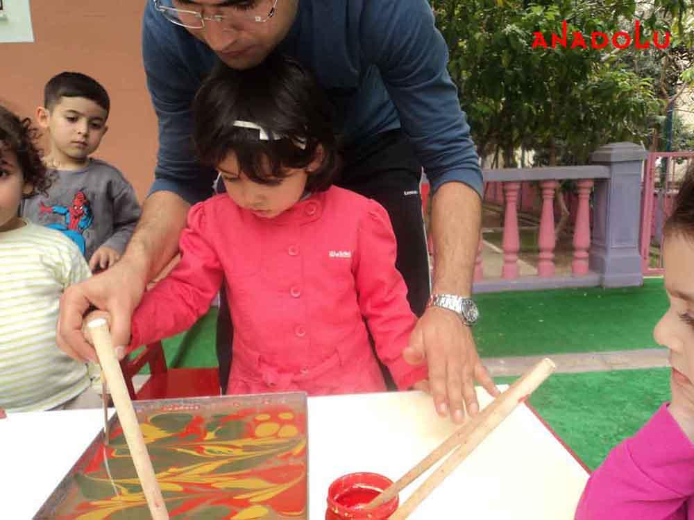 Çocuklarla Ebru Dersleri Başladı Ankara