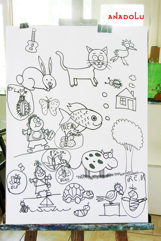 Çocuklarla Karakalem Çalışmaları Ankara