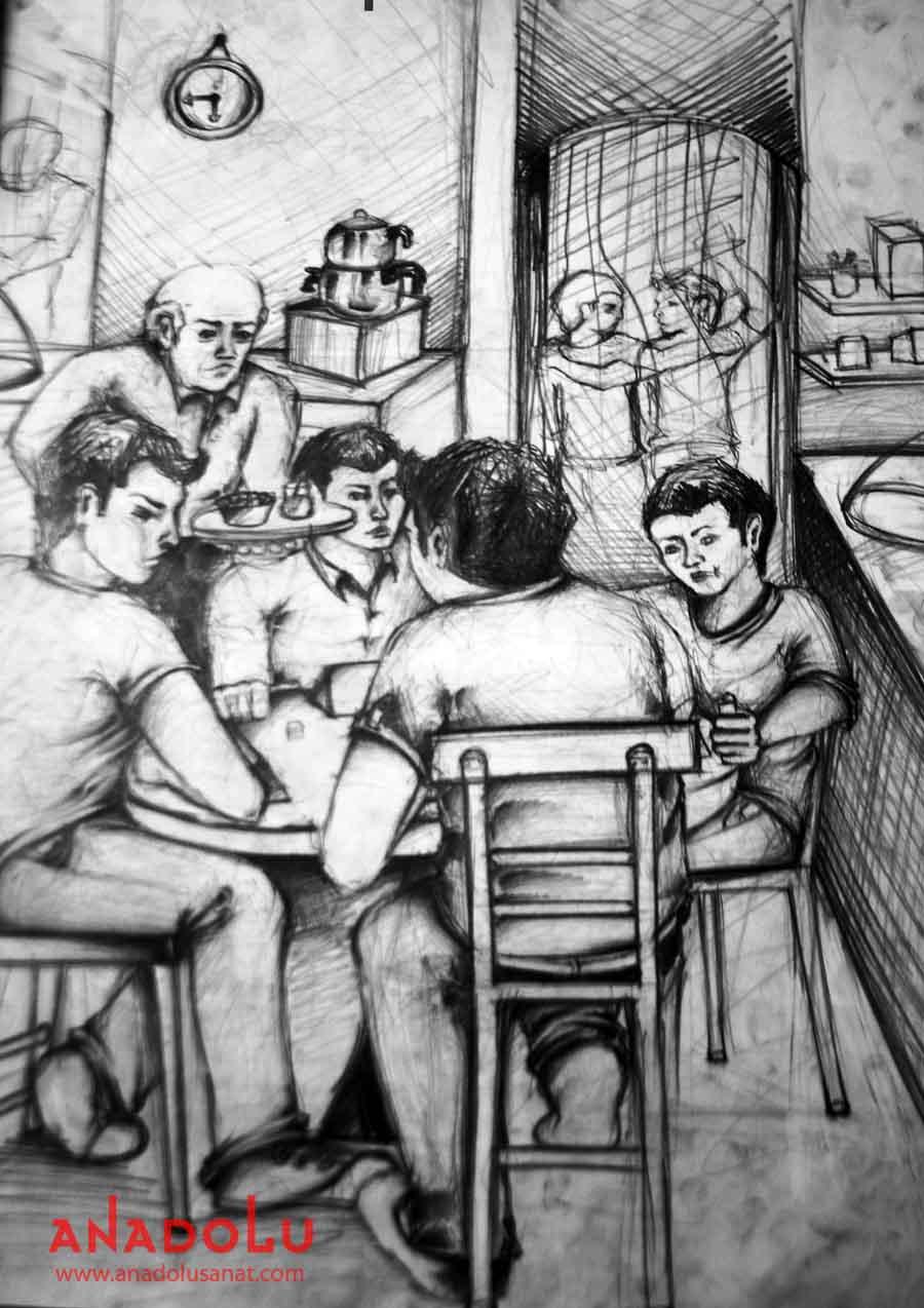 Ankarada Güzel Sanatlar Fakülteleri İçin Kara kalem Çizim Çalışmaları