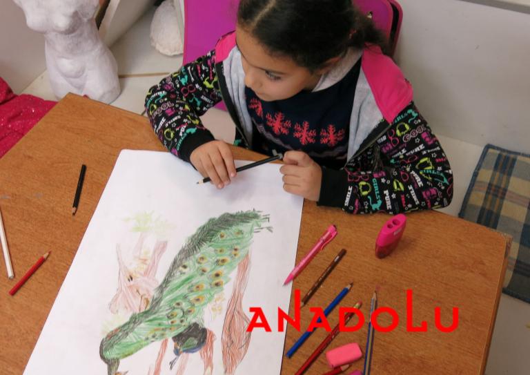 Çocuklar Resim Çalışması Yapıyorlar Ankara