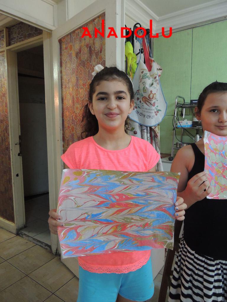 Ankarada Çocuklara Yönelik Özel Ebru Eğitimleri