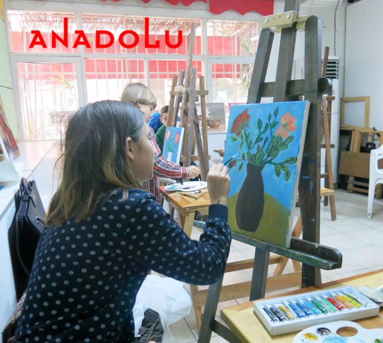 Yağlı Boya Yapan Çocuklar Ankara